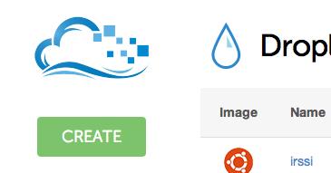 DigitalOcean create droplet button