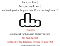 [Breaking News] Psychz YardVPS PhotonVPS got hacked by someone...
