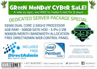 BURSTNET - $29.95/mo DUAL CORE Dedi - GREEN MONDAY - SPECIAL OFFER!