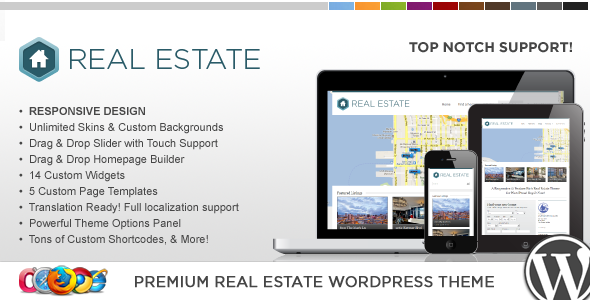 WP Pro Real Estate 3 Responsive WordPress Theme - Business Corporate