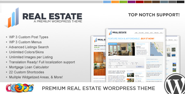 WP Pro Real Estate 2 WordPress Theme - Business Corporate