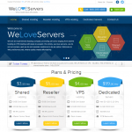 WeLoveServers NEW Website Design Launch! See The Cheapest VPS Deal Yet.