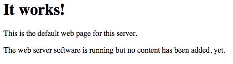 Default Apache index page