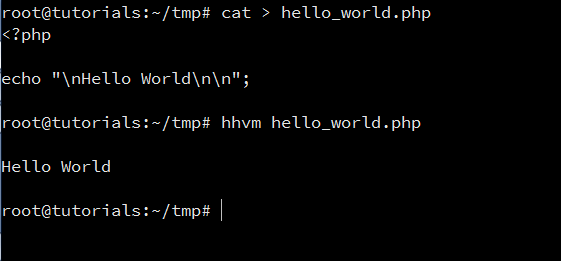 Command Line Hello World