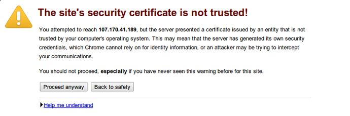OpenVPN access server ssl warning