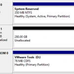[VMware]Unable to initialize a second virtual disk within Windows 2008 / Windows 2008 R2 / Windows 2012