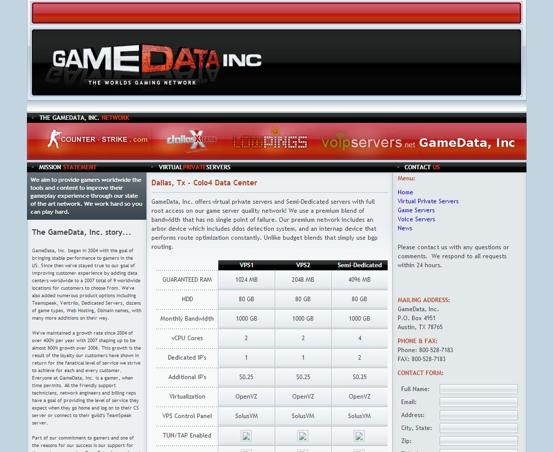 gamedatainc